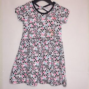 Girls multi pattern dress